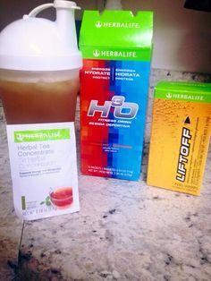 Mom of a newborn and 3 year old, gotta have my herbalife Herba-Crack! Yes that's it's name! 12 ounces of water in a 16oz cup, 1tsp h30, 1tsp and a little nip of a herbalife tea of your choice! And a lift off tablet of your choice! Mix the tea before pouring over ice, put the liftoff tablet in about an inch of hot water(it dissolves faster) pour tea over Ice, pour lift off over ice , the sprinkle 1tsp of h30 over the top, put on lid and shake it! ENJOY!You have just made Herba-Crack…