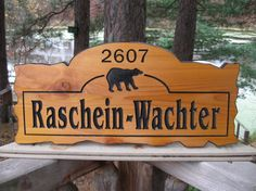 Personalized Wood Sign - Custom Carved Sign - Cabin Sign - Carved Wood Sign. $75.00, via Etsy.