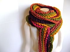 A personal favorite from my Etsy shop https://www.etsy.com/listing/90667624/crochet-scarf-pattern-for-mile-long