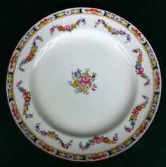 """GORGEOUS ANTIQUE MINTON """"ROSE"""" PATTERN (A4807) DINNER PLATE 10 1/4"""""""