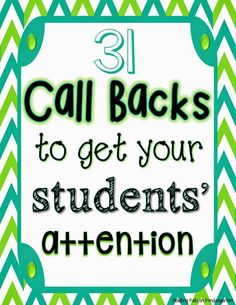 Attention getters for elementary students