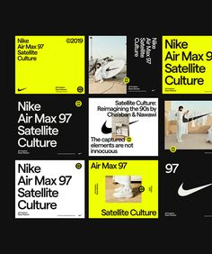 Nike Air Max Culture on Behance Graphic Design Posters, Graphic Design Illustration, Graphic Design Inspiration, Banner Design, Air Max 97, Nike Air Max, Web Design, Nike Design, Identity Design