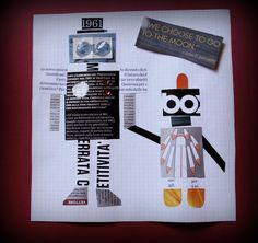 robot paper collage