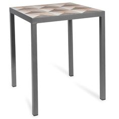 Marqueterie -  wooden side table, D35cm
