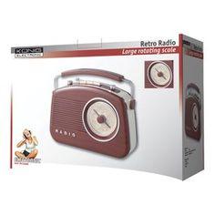 Konig HAV-TR710BR – Radio AM/FM, estilo retro, color marrón - http://vivahogar.net/oferta/konig-hav-tr710br-radio-amfm-estilo-retro-color-marron/ -