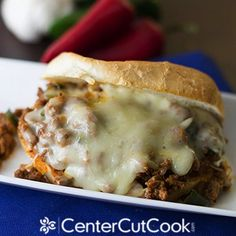 Cheesy Mexican Sloppy Joes - a twist on the classic!
