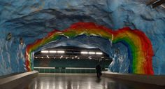 this is exactly that kind of reasons why I wanna live in Sweden... Stockholm Metro : The World's Longest Art Gallery