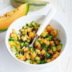 Meloen-komkommersalsa recept - Jamie magazine