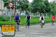 Che Guevara and South America: Ciclovía cycle-way, Bogotá, Colombia. Photo by TEDxBogotá
