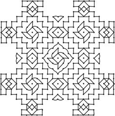 Rangolis-Traditional Art Designs To Decorate The Indian Home Indian Rangoli Designs, Rangoli Ideas, Rangoli Designs With Dots, Kolam Rangoli, Kolam Designs, Art Designs, Muggulu Dots, Padi Kolam, Zentangle Patterns