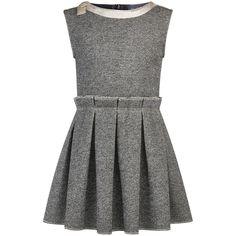 Cotton and polyester jersey Poplin lining Flared hem Crew neck Contrast neckline Sleeveless Box pleats on the front and in the back Invisible zipper at the back Fancy bow Lurex thread Silver gleams Lili Gaufrette Pleated effect - £ 101