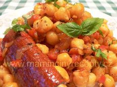 Cizrnové karí Fruit Salad, Ham, Shrimp, Food And Drink, Cooking Recipes, Weight Loss, Meals, Summer, Bulgur