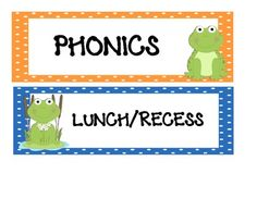 Frog Theme Classroom Rules   Frog Themed Classroom Schedule Cards - Molly Hernandez ...