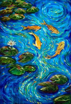 "Saatchi Online Artist: Linda Olsen; Acrylic, 2011, Painting ""The Rhythm of Life"""