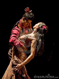 men and woman Flemenco dancers | CHENGDU - DEC 28: Spanish dancers perform Flamenco Dance onstage at ...