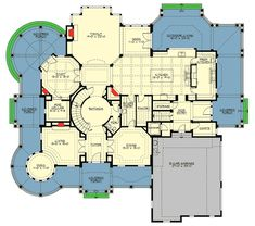 Plan Magnificent Shingle Style Dream Home - Plan Corner Lot, Luxury, Shingle Style, Victorian House Plans & Home Designs - The Plan, How To Plan, Victorian House Plans, Victorian Homes, Dream House Plans, House Floor Plans, Luxury Floor Plans, Mountain House Plans, Interior Desing