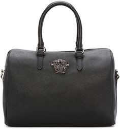 Shop for Black Faux Leather Duffle Bag by Versace at ShopStyle. 1ce549ffa9d85