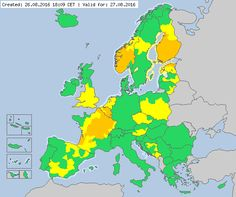 Valid for 27.08.2016 Meteoalarm - severe weather warnings for Europe - Mainpage