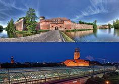 Zitadelle, Bahnhof und Rathaus Spandau