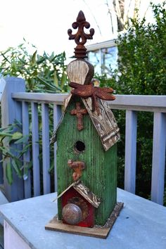 Rustic Birdhouse Art Print by Christopher Holmes | Rustic birdhouses ...