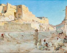 Buy online, view images and see past prices for Étienne DINET Repos dans une rue de Bou Saâda, Invaluable is the world's largest marketplace for art, antiques, and collectibles. Artist Signatures, Famous Artists, Art Market, View Image, House Painting, All Art, Art History, Monument Valley, Mount Rushmore