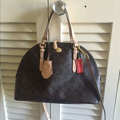 Coach bag Dark brown coach bag with shoulder strap.  EUC, authentic.  Offer welcome. Coach Bags Satchels
