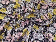 Floral Viscose Stretch Jersey Knit Dress Fabric  Multicoloured   Fabric   Dress Fabrics   Minerva Crafts