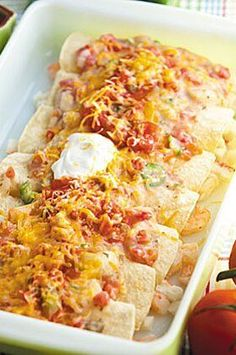 Feed the whole family with these Seafood Enchiladas that are quick, easy and a true crowd-pleaser.#easyrecipes #quickeasyrecipes #quickrecipes Fish Dishes, Mexican Dishes, Seafood Dishes, Fish And Seafood, Main Dishes, Fish Recipes, Seafood Recipes, Mexican Food Recipes, Cooking Recipes