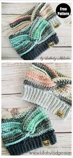 Ear Warmer Free Crochet Pattern and Paid - - Crochet ear warmers are such a useful winter accessory to have in your outerwear rotation. The Ear Warmer Free Crochet Pattern is easy to work up. Crochet Ear Warmer Pattern, Easy Crochet Patterns, Crochet Stitches, Knitting Patterns, Knit Crochet, Crochet Mittens Free Pattern, Knitting Tutorials, Crochet Granny, Crotchet