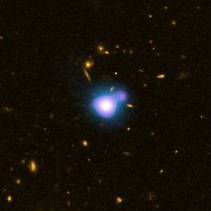 Supermassive Black Hole over 12 billion light years away. The only way to know they are there is when they eat stars.