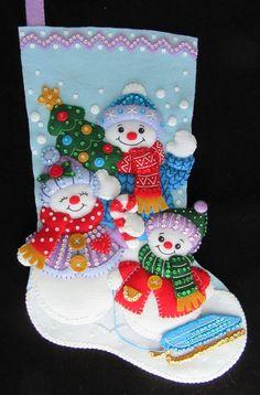 What Is Christmas, Christmas Goodies, Christmas Themes, Christmas Crafts, Christmas Decorations, Christmas Ornaments, Holiday Decor, Felt Stocking, Crochet Bedspread