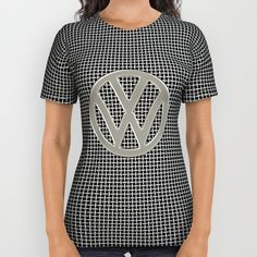 VW Silver Grill All Over Print Shirt #VW #Volkswagen #campervan #bus #silver #logo #shirt #tees #tshirt #clothing
