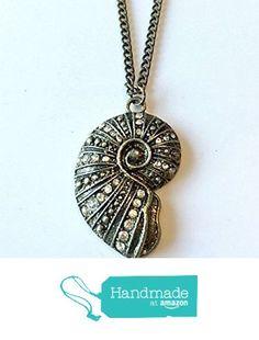 Brass Rhinestone Sea Shell Pendant Necklace from NatureAngels - Handmade, Upcycled and Vintage http://www.amazon.com/dp/B015HJZEXG/ref=hnd_sw_r_pi_dp_7tNfwb0766MR0 #handmadeatamazon