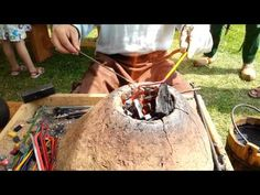 ▶ Viking Handcraft: Making Glass Beads - YouTube - how they used to do it