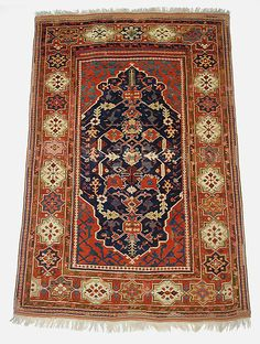 Transylvanian Carpet Object Name: Carpet Date: probably 17th century Geography: Turkey Medium: Wool (warp, weft and pile); symmetrically knotted pile Dimensions: H. 74 in. (187.96 cm) W. 48 in. (121.92 cm) Wt. 18 lbs. (8.2 kg) with cradle Classification: Textiles-Rugs
