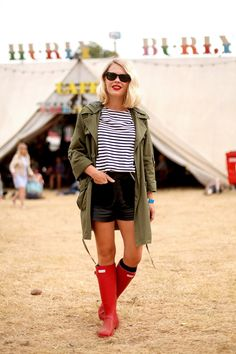 Hunter Boots/festival outfit