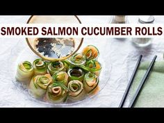 Smoked Salmon Cucumber Rolls With Cream Cheese - Three Ingredients