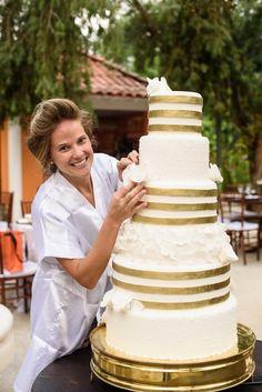 Casamento rústico-chique: bolo de casamento - Foto Pinnola Fotografia