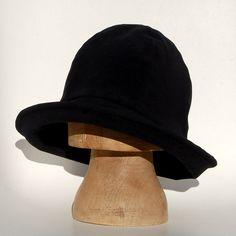 Womens fedora hat Black velvet hat ZUTelle widebrim velvet hat by ZUTusine on Etsy