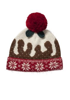 Clothing at Tesco | F&F Christmas Pudding Beanie > accessories > Accessories > Women