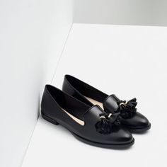 FLAT SHOES WITH TASSELS-WEAR TO WORK-WOMAN | ZARA United States