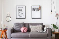 Tons neutros, sala integrada, faça você mesmo e muitos objetos lindos. Descubra as ideias de decoração mais bacanas por trás do Apto41.