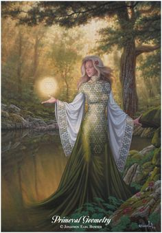 ...an oil painting of the Goddess of Eternal Forms, the Living Mathematics that nourish and inform all organic processes...