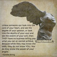 www.abeautifulmessinside.com, quotes, sandra kring, angels, winged victory