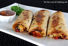Baked Chicken and Cheddar Taquitos