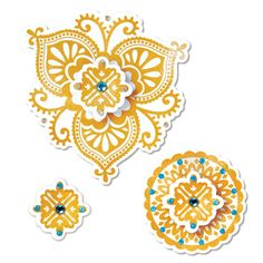 Sizzix - Moroccan Collection - Framelits Die - Moroccan Flowers at Scrapbook.com