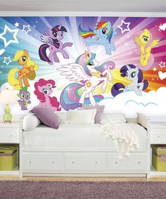 Look at this #zulilyfind! My Little Pony Cloud XL Chair Rail Mural #zulilyfinds