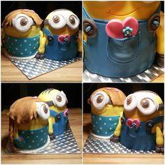 Cake love minions 3D