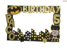 Batman birthday party. Batman Photo booth Frame. super heroe phot | Aldi My Shop