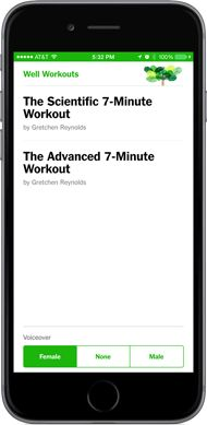 """<strong>Go to <a href=""""http://www.nytimes.com/7-minute-workout"""">nytimes.com/7-minute-workout</a> on your phone to try our new Web application. </strong>"""